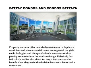 Condos In Pattaya, Pattaya Condo, Condos Pattaya