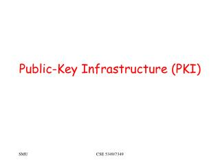 Public-Key Infrastructure PKI