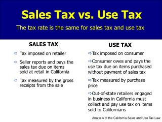 Sales Tax vs. Use Tax