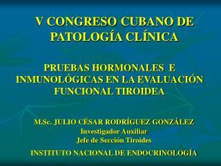 V CONGRESO CUBANO DE PATOLOG A CL NICA