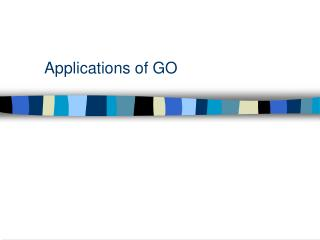 Applications of GO