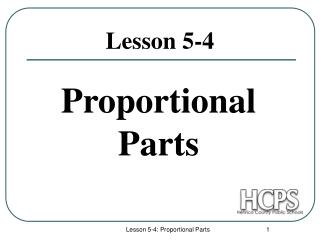 Proportional Parts