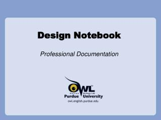 Design Notebook