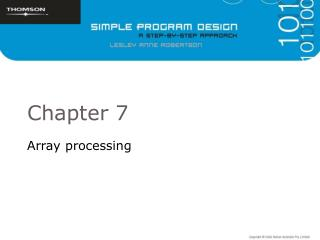 Array processing