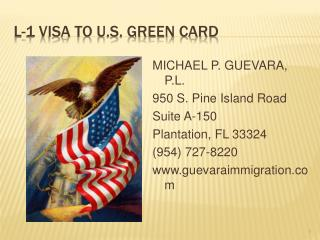 L-1 VISA TO U.S. GREEN CARD