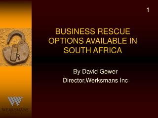 BUSINESS RESCUE OPTIONS AVAILABLE IN SOUTH AFRICA