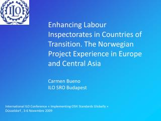 Enhancing Labour Inspectorates in Countries of Transition. The Norwegian Project Experience in Europe and Central Asia