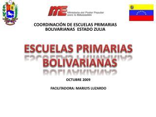 COORDINACI N DE ESCUELAS PRIMARIAS BOLIVARIANAS  ESTADO ZULIA