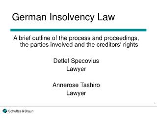 German Insolvency Law