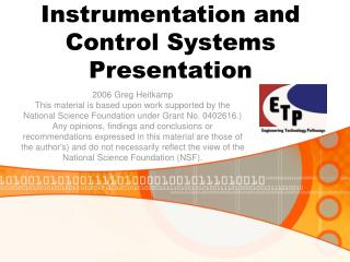 Instrumentation and Control Systems Presentation