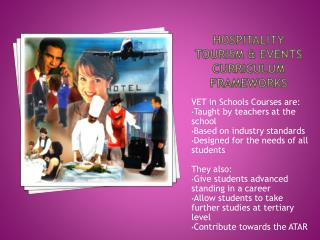 Hospitality tourism  events  curriculum frameworks