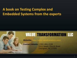 Book on testing complex and embedded system software