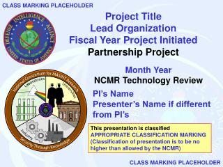 Project Title Lead Organization Fiscal Year Project Initiated Partnership Project