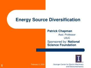 Energy Source Diversification