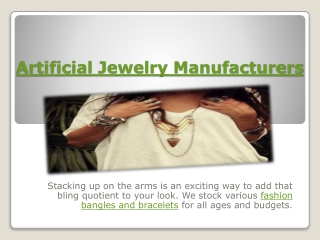 Artificial Jewelry Manufacturers