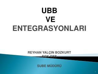 UBB   VE ENTEGRASYONLARI   REYHAN YAL IN BOZKURT SGK GSS SUBE M D R