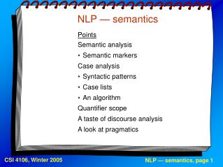 NLP   semantics