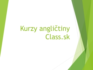 Jazykové kurzy Class.sk
