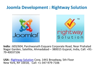 Joomla Web Developer from Offshore Development Firm