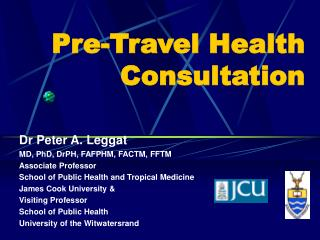 Pre-Travel Health Consultation