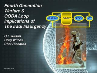 Fourth Generation Warfare  OODA Loop Implications of The Iraqi Insurgency  G.I. Wilson Greg Wilcox Chet Richards