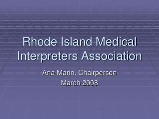 Rhode Island Medical Interpreters Association