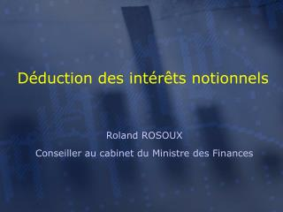 D duction des int r ts notionnels