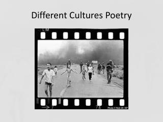 Different Cultures Poetry