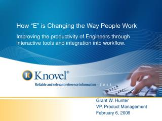 How  E  is Changing the Way People Work