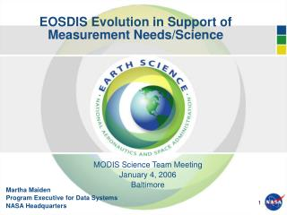 EOSDIS Evolution in Support of Measurement Needs