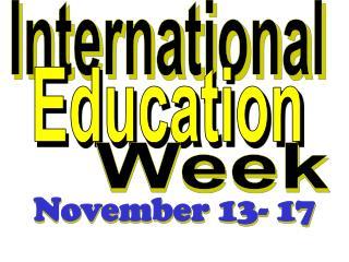November 13- 17