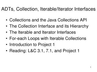 Collection, Iterable, and Iterator Interfaces