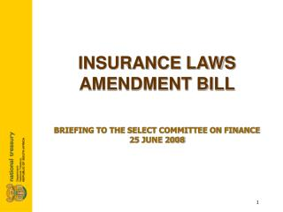 INSURANCE LAWS AMENDMENT BILL