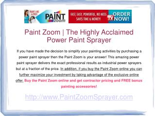 paint zoom review - explore the many paint zoom benefits