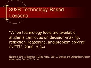 302B Technology-Based Lessons