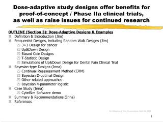 Dose-adaptive study designs offer benefits for  proof-of-concept