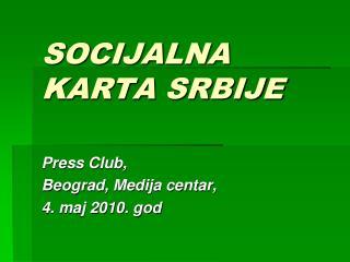SOCIJALNA KARTA SRBIJE