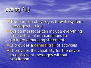 Syslog 1