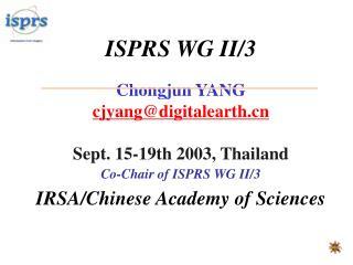 ISPRS WG II