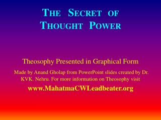 THE   SECRET   OF THOUGHT   POWER