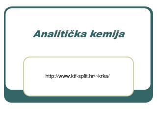 Analiticka kemija