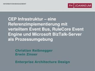 CEP Infrastruktur   eine Referenzimplementierung mit verteiltem Event Bus, RuleCore Event Engine und Microsoft BizTalk-S