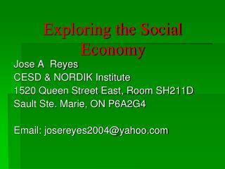 Exploring the Social Economy