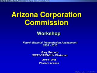 Gary Romero SWAT-CATS-EHV Chairman