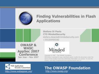 Finding Vulnerabilities in Flash Applications