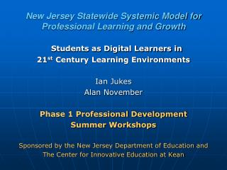 New Jersey Statewide Systemic Model for Professional Learning and Growth
