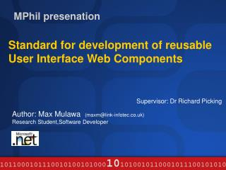 MPhil presenation