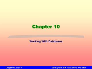 Working With Databases