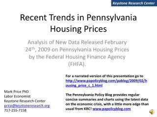 Recent Trends in Pennsylvania Housing Prices