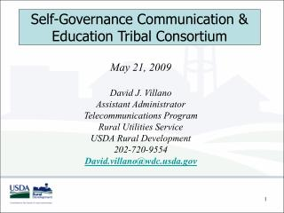 Self-Governance Communication  Education Tribal Consortium